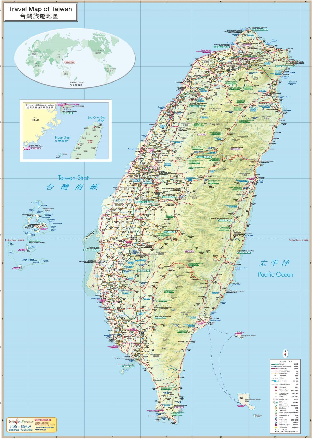 Taiwan travel guide map